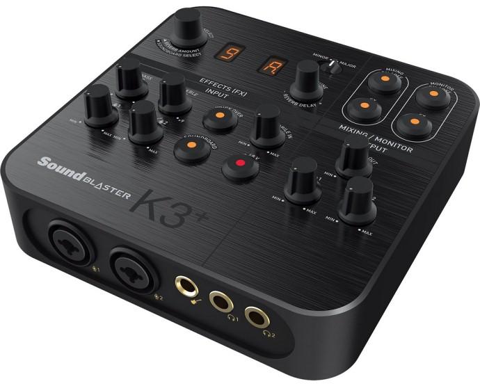Sound Blaster K3+ — USB звуковой интерфейс с автотюном для караоке